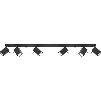 Lampa sufitowa Merida 6 120x15 cm czarna