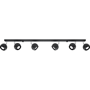 Lampa sufitowa Oculare 6 120x15 cm czarna