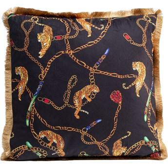 Poduszka dekoracyjna Tiger Chain 45x45 cm czarno-złota