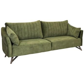 Sofa Nessani Vintage Velvet 3 os. 232 cm leśna zieleń
