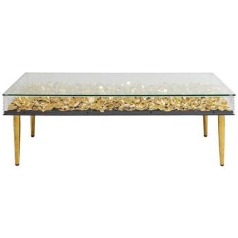 Stolik kawowy Gold Flowers 120x60 cm