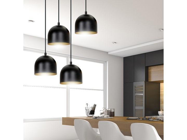 AERO 4 BLACK / GOLD 246/4 lampa wisząca regulowana czarny klosz złoty środek Metal Pomieszczenie Przedpokój Lampa z kloszem Funkcje Brak dodatkowych funkcji