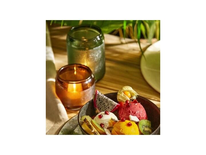 Lampion na tealight świecznik DUKA SPIKAR 9x7.5 cm brązowy szkło Kategoria Świeczniki i świece