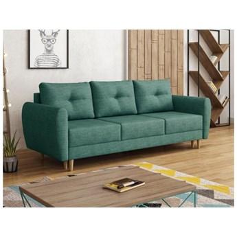 Sofa kanapa skandynawska Manstad turkus na drewnianych nóżkach