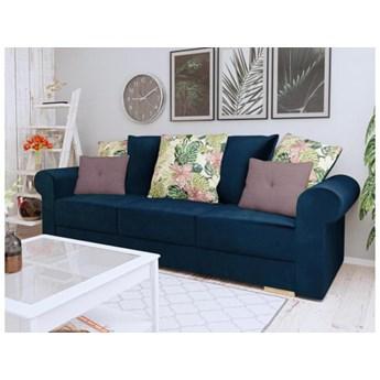 Kanapa sofa Sofia angielski styl welur francuski sprężyny