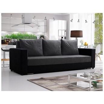 Klasyczna kanapa sofa Mojito szaro czarna