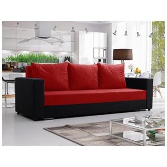 Klasyczna kanapa sofa Mojito czerwono czarna