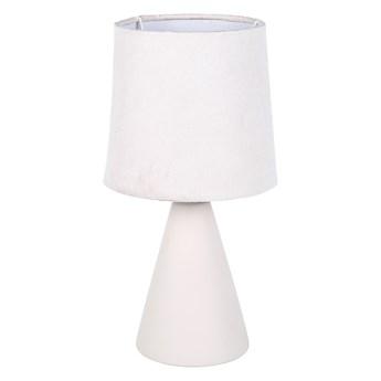 Lampa stołowa dekoracyjna na ceramicznej podstawie Altom Design kremowa