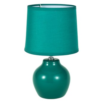 Lampa stołowa dekoracyjna na ceramicznej podstawie Altom Design zielona