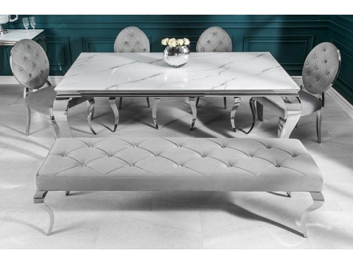 Stół do jadalni w stylu barokowym 180 Marmur Stal Wysokość 75 cm Szkło Pomieszczenie Stoły do salonu Długość 180 cm  Styl Glamour
