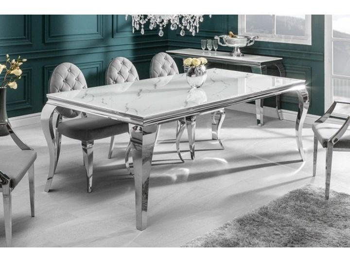Stół do jadalni w stylu barokowym 180 Pomieszczenie Stoły do jadalni Stal Wysokość 75 cm Szkło Długość 180 cm  Marmur Kategoria Stoły kuchenne