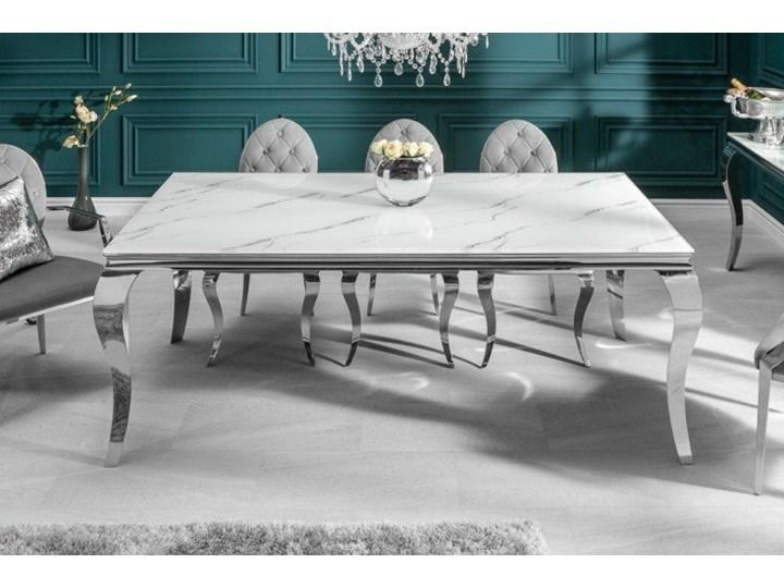 Stół do jadalni w stylu barokowym 180 Rozkładanie Długość 180 cm  Stal Szkło Marmur Wysokość 75 cm Kategoria Stoły kuchenne