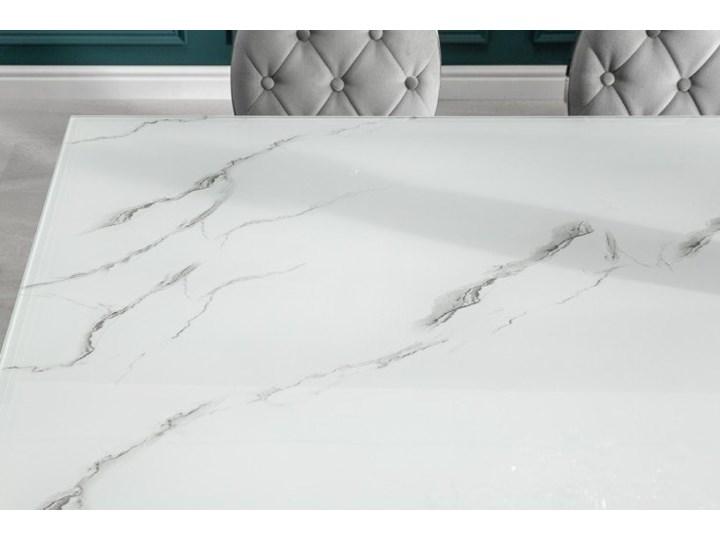 Stół do jadalni w stylu barokowym 180 Szkło Wysokość 75 cm Długość 180 cm  Marmur Stal Pomieszczenie Stoły do jadalni
