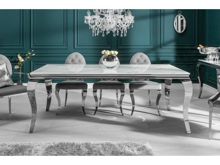 Stół do jadalni w stylu barokowym 180 Pomieszczenie Stoły do salonu Szkło Długość 180 cm  Marmur Stal Wysokość 75 cm Kategoria Stoły kuchenne