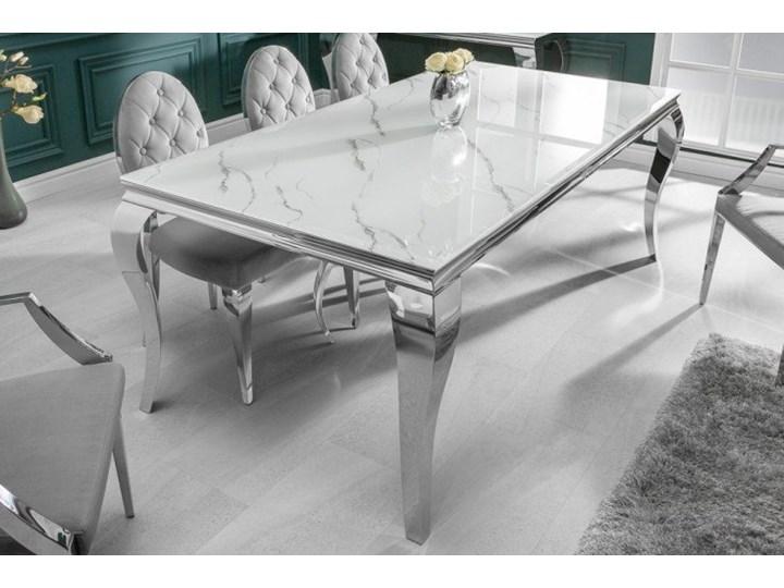 Stół do jadalni w stylu barokowym 180 Marmur Wysokość 75 cm Długość 180 cm  Szkło Stal Styl Nowoczesny