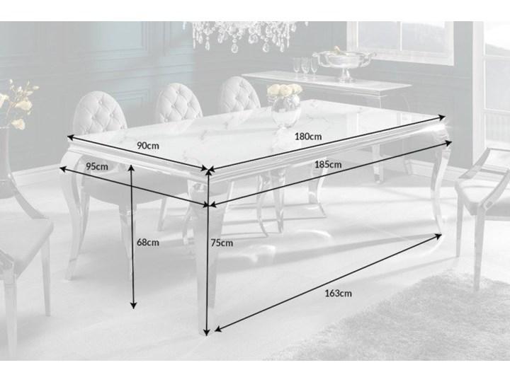 Stół do jadalni w stylu barokowym 180 Szkło Długość 180 cm  Marmur Stal Wysokość 75 cm Styl Nowoczesny