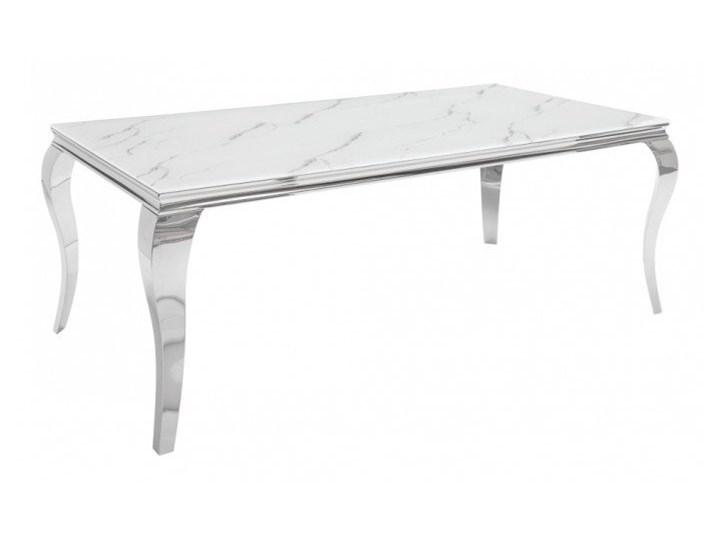 Stół do jadalni w stylu barokowym 180 Stal Szkło Wysokość 75 cm Długość 180 cm  Marmur Pomieszczenie Stoły do jadalni
