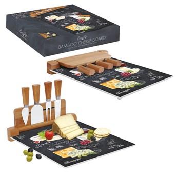 Deska do serów z nożami World of cheese Easy Life, 30x25 cm