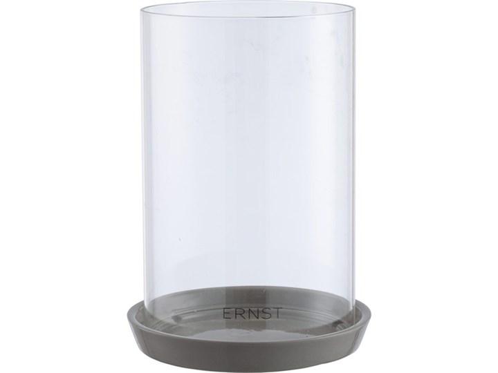 ERNST - Lampion na świecę bryłową Pigg Szkło Kategoria Świeczniki i świece Ceramika Kolor Szary
