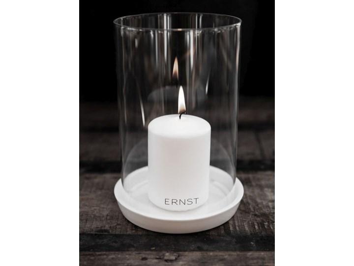 ERNST - Lampion na świecę bryłową Pigg Szkło Ceramika Kategoria Świeczniki i świece Kolor Szary