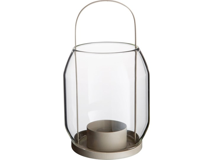 ERNST - Lampion na tealigh Kategoria Świeczniki i świece Metal Szkło Kolor Beżowy