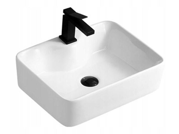 VELDMAN UMYWALKA **SLIM ** GRACJA CIENKIE KRAWĘDZIE SLIM Ceramika Prostokątne Nablatowe Szerokość 48 cm Kategoria Umywalki Meblowe Kolor Biały