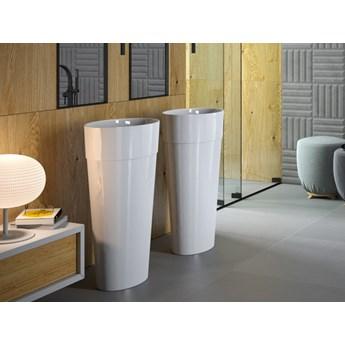 Umywalka wolnostojąca Uniqa, 46x32x84 cm, owalna, biała