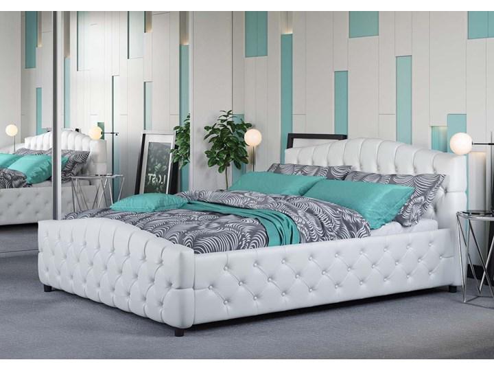 ŁÓŻKO 180X200 Z POJEMNIKIEM - FLORENCJA (SF892B) - EKOSKÓRA BIAŁA Kolor Biały Łóżko tapicerowane Kategoria Łóżka do sypialni