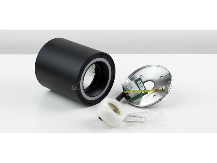 Punktowa oprawa sufitowa natynkowa HALIS OV Black GU10 okrągła czarna, biały pierścień EDO777331 EDO Kolor Czarny Oprawa stropowa Okrągłe Kategoria Oprawy oświetleniowe