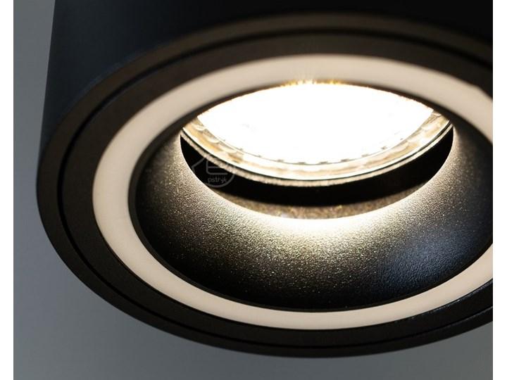 Punktowa oprawa sufitowa natynkowa HALIS OV Black GU10 okrągła czarna, biały pierścień EDO777331 EDO Okrągłe Oprawa stropowa Kolor Czarny