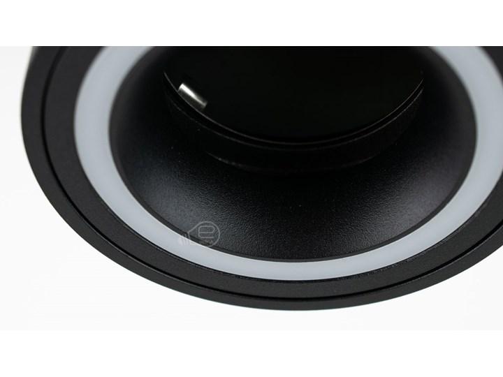 Punktowa oprawa sufitowa natynkowa HALIS OV Black GU10 okrągła czarna, biały pierścień EDO777331 EDO Oprawa stropowa Okrągłe Kolor Czarny Kategoria Oprawy oświetleniowe