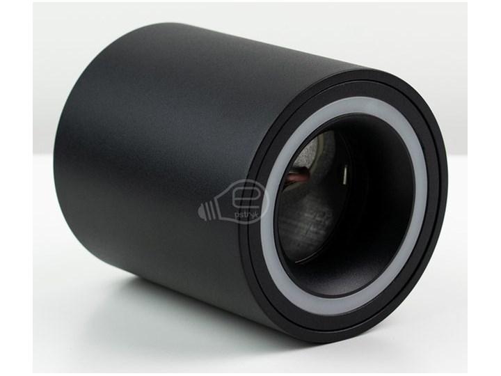 Punktowa oprawa sufitowa natynkowa HALIS OV Black GU10 okrągła czarna, biały pierścień EDO777331 EDO Kolor Czarny Okrągłe Oprawa stropowa Kategoria Oprawy oświetleniowe