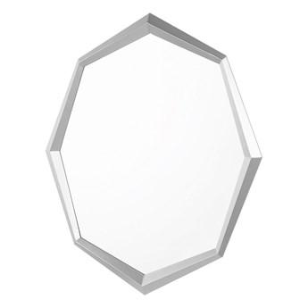 Lustro ścienne wiszące srebrne 91 x 66 łazienka salon