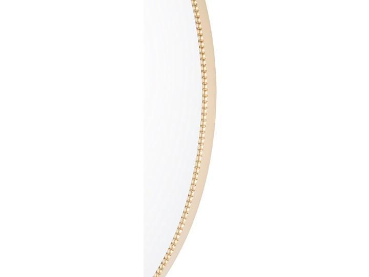 Lustro ścienne wiszące złote 83 x 57 cm owalne dekoracyjne do salonu sypialni łazienki minimalistyczne Styl Klasyczny