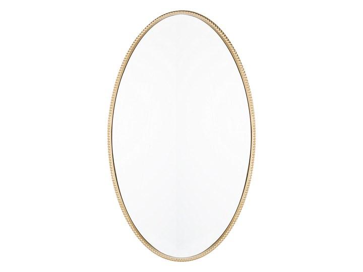 Lustro ścienne wiszące złote 83 x 57 cm owalne dekoracyjne do salonu sypialni łazienki minimalistyczne Styl Klasyczny Styl Nowoczesny