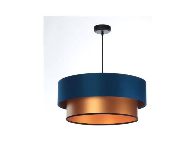 Lampa wisząca Fiona New granatowo-miedziana 40cm Kolor Miedziany Lampa z abażurem Metal Ilość źródeł światła 1 źródło