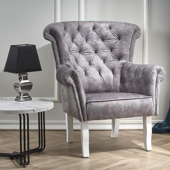 Pikowany fotel wypoczynkowy w stylu retro Italo