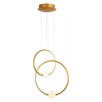 LOZANNA lampa wisząca LED 1 x 44,8W nowoczesna okręgi brąz antyczny białe kule ringi desinerska ITALUX PND-20112035-2B-GD
