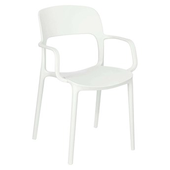 Chair with Flexi armrests, white