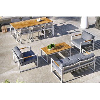 Nowoczesny aluminiowy komplet ogrodowy wypoczynkowy FONTAINE Lounge | Sklep Dekkor