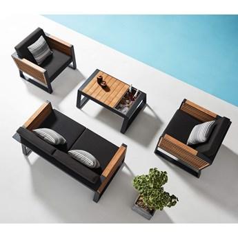 Meble ogrodowe wypoczynkowe aluminiowe z sofą 2-osoboeą NEW YORK Olefin | Sklep Dekkor