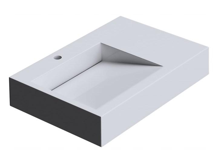 VELDMAN UMYWALKA KONGLOMERAT CASPAR 75x50cm Nablatowe Podwieszane Prostokątne Szerokość 75 cm Kategoria Umywalki