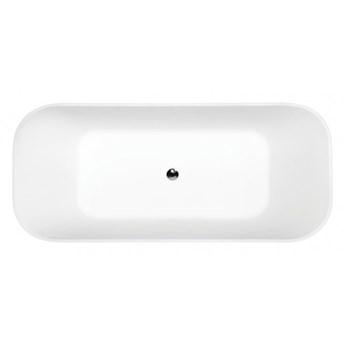 Wanna wolnostojąca Assos S-Line, 160x70 cm, biała/czarna