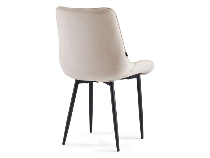 NOWOCZESNE KRZESŁO TAPICEROWANE ▪️ BELINI (DC-6020) ▪️ WELUR BEŻ Tworzywo sztuczne Kategoria Krzesła kuchenne Metal Tkanina Styl Nowoczesny