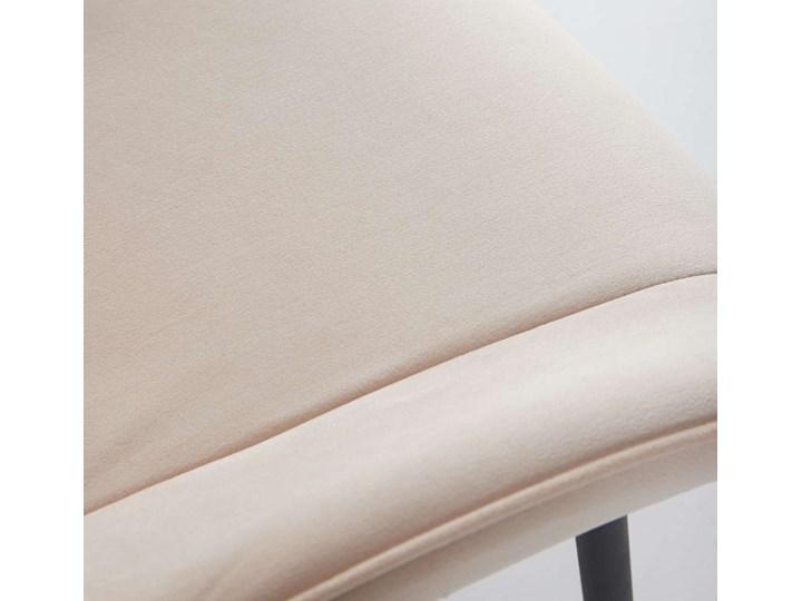 NOWOCZESNE KRZESŁO TAPICEROWANE ▪️ BELINI (DC-6020) ▪️ WELUR BEŻ Tworzywo sztuczne Metal Kategoria Krzesła kuchenne Tkanina Styl Nowoczesny