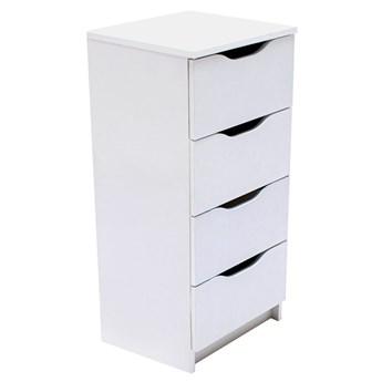 Biała minimalistyczna komoda z szufladami - Dagma 4X