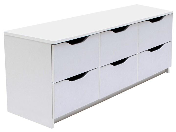 Biała szafka na buty z szufladami - Dagma 5X Płyta MDF Kolor Biały Drewno Tworzywo sztuczne Styl Minimalistyczny