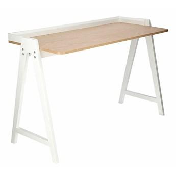 Skandynawskie biurko białe - Vennie