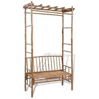 Drewniana ławka ogrodowa Zenta - brązowa
