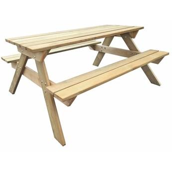 Drewniany stół ogrodowy z dwoma ławkami - Eylan